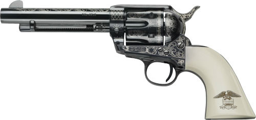 """Pietta 1873 GW2 Liberty 45 Colt, 4.75"""" Barrel, Blued Engraved Ultra Ivory with Liberty Eagle Grip, 6rd"""