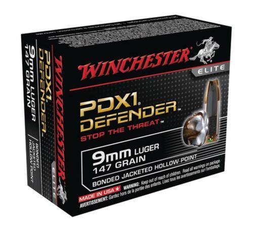 Winchester Bonded PDX1 Defender 9mm 147gr, Bonded PDX1 20rd Box