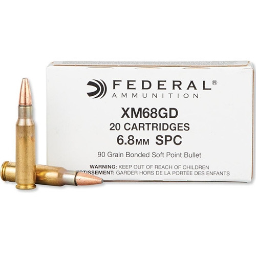 Federal XM68GD 6.8mm Remington SPC, 90gr, GBSP, 20rd