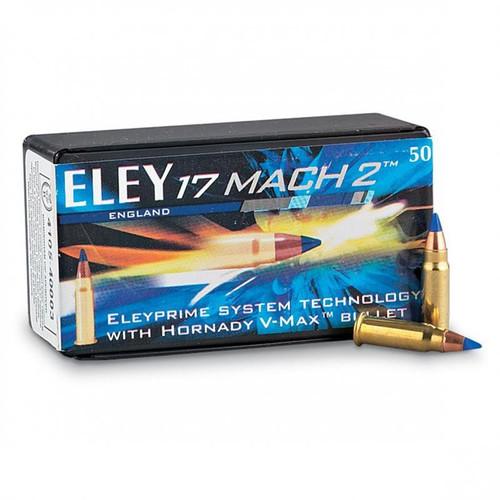 Eley .17 Mach 2, 17gr, Hornady V-Max Bullet, 50rd