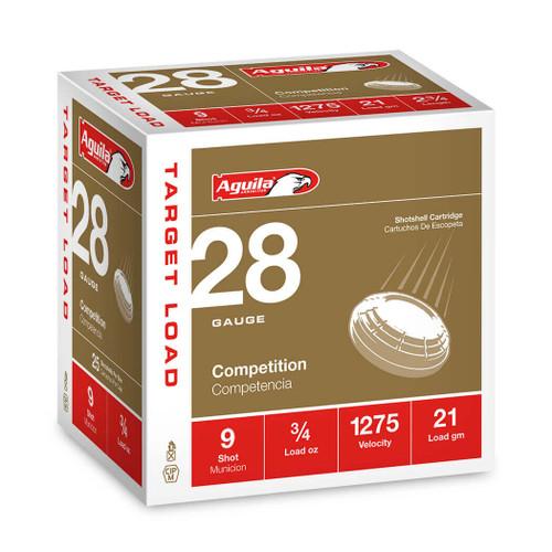 "Aguila Competition 28 Ga, 2 3/4"", 3/4oz, #9 Shot, 25rd Box"