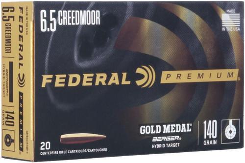 Federal Gold Medal 6.5 Creedmoor, 140gr, Berger Hybrid Target, 20rd Box