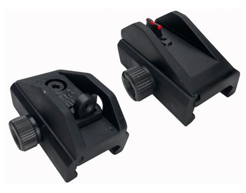 Grand Power Stribog Hard Sight Set, Red Fiber Optic Front, Black