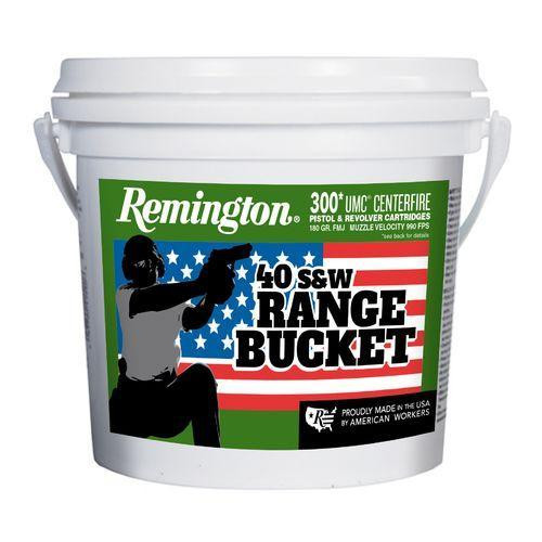 Remington UMC Range Bucket .40 S&W, 180gr, FMJ, 300rd Bucket