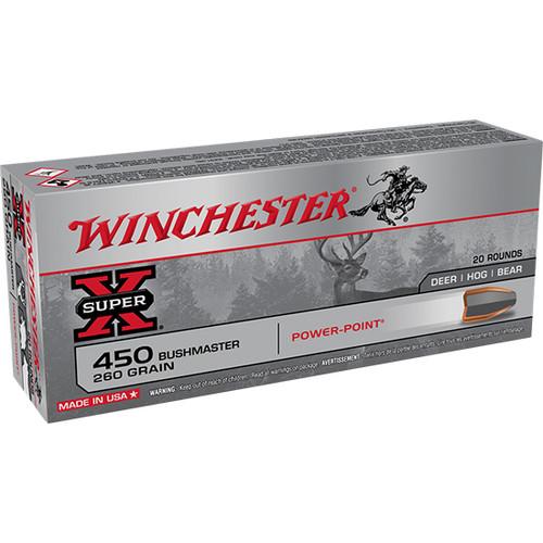 Winchester Super X .450 Bushmaster, 260gr, Power-Point, 20rd Box