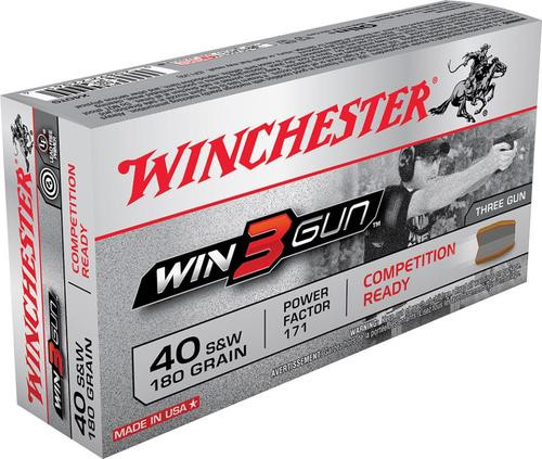 Winchester Win3Gun 40 Smith & Wesson 180gr, 50rd Box