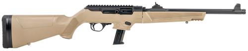 "Ruger, PC Carbine 9mm, 16.12"" Threaded Fluted Barrel, FDE, 10rd"