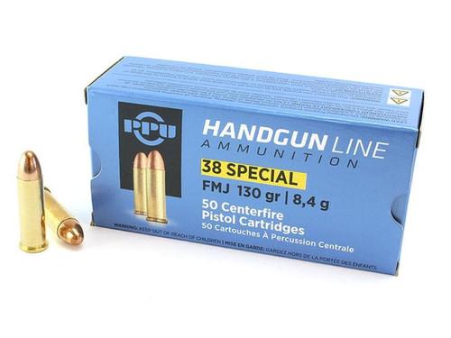 PPU Handgun Line .38 Special, 130gr, FMJ, 50rd Box