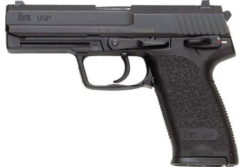 "HK USP45 V1 .45 ACP, 4.41"" Barrel, Safety/Decocker, Fixed Sights, Black, 10rd"