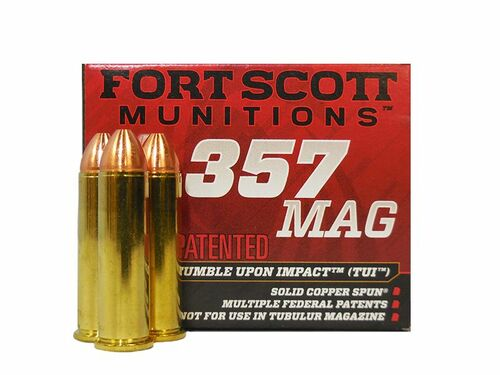 Fort Scott Munitions TUI .357 Mag, 125gr, Solid Copper Spun, 20rd Box