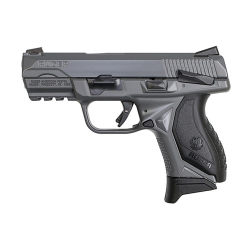 """Ruger American Compact 9mm, 3.5"""" Barrel, Manual Safety, Gray, 17rd"""