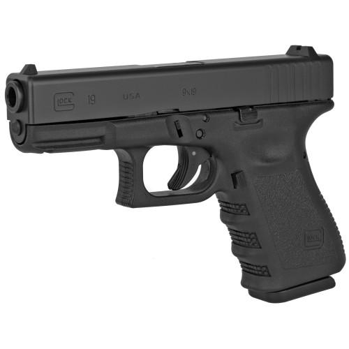 """Glock 19 Gen3 Factory Rebuilt 9mm, 4.02"""" Barrel, Fixed Sights, Black, 15rd"""