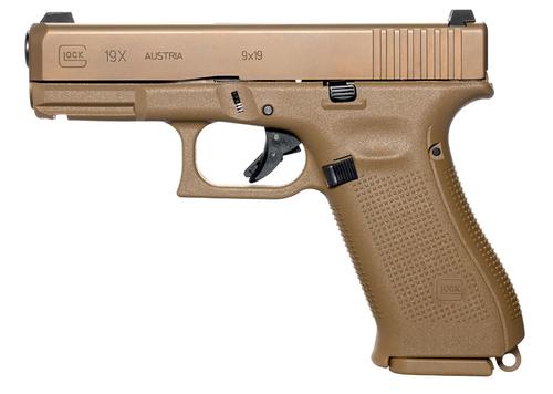 "Glock 19X Factory Rebuilt USA 9mm, 4.02"" Barrel, Night Sights, Flat Dark Earth, 17rd"