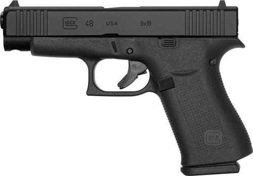 """Glock 48 Factory Rebuilt 9mm, 4.17"""" Barrel, Fixed Sights, Black, 10rd"""
