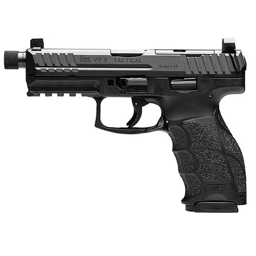 "HK VP9T OR 9mm, 4.7"" Threaded Barrel, NS, Black, 10rd"