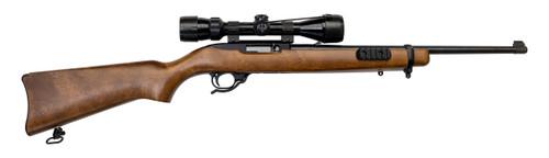 """Ruger 10/22 Used .22 LR, 18.5"""" Barrel, Bushnell 3-9x40mm Scope, Blued, Wood, 10rd"""