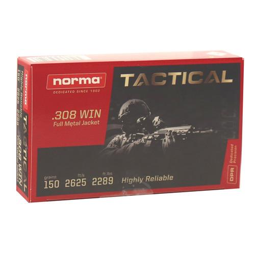 Norma .308 Winchester, 150gr, FMJ, 20rd Box
