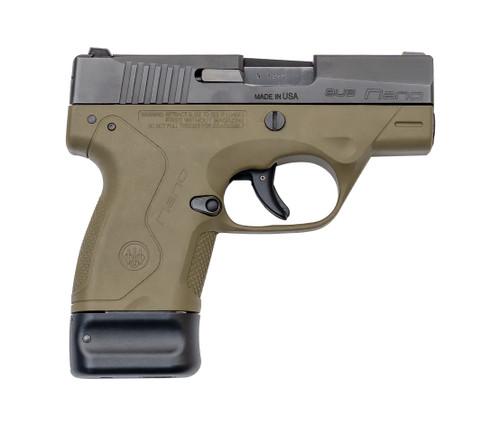 """Beretta BU9 Nano Used 9mm, 3.07"""" Barrel, 3-Dot Sights, FDE, 8rd"""