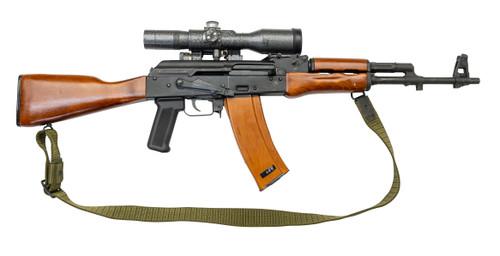"""Cugir SAR 3 5.56x45mm, 16"""" Barrel, Russian 8x42mm Optic, OD Green Sling, Wood Furniture, 28rd"""