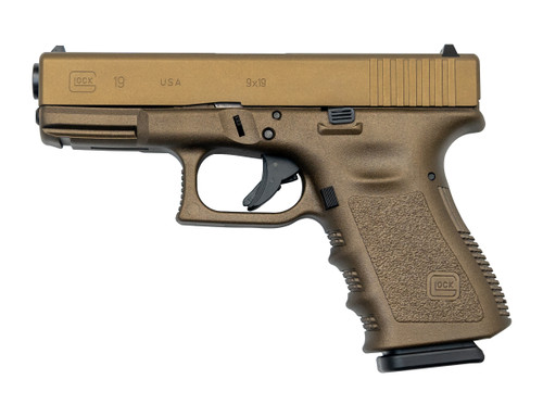 "Glock G19 Gen3 USA 9mm, 4.07"" Barrel, Fixed Sights, Midnight Bronze, 15rd"