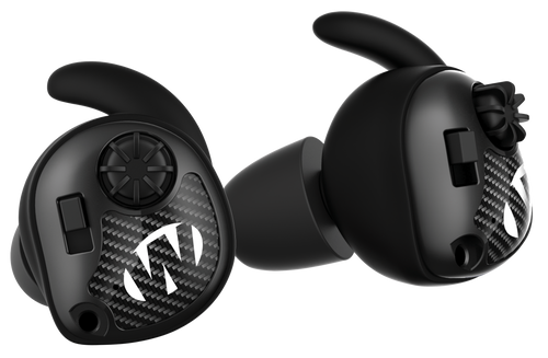 Walker's Silencer Electronic Ear Buds Polymer 25 dB In The Ear Matte Black with Carbon Fiber Accents Adult