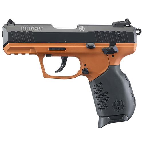 "Ruger SR22 .22LR, 3.5"", Black, Copper Suede Grip, 2x10rd Mags"
