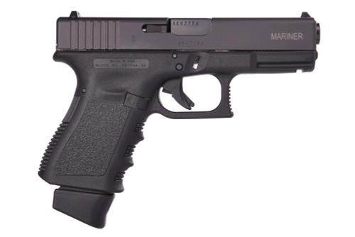"Glock 19 Gen3 Mariner 9mm, 4.01"" Barrel, Fixed Sights, Black, 3x 15rd"