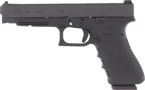 "Glock G34 Gen3 USA 9mm, 5.31"" Barrel, Fixed Sights, Black, 17rd"