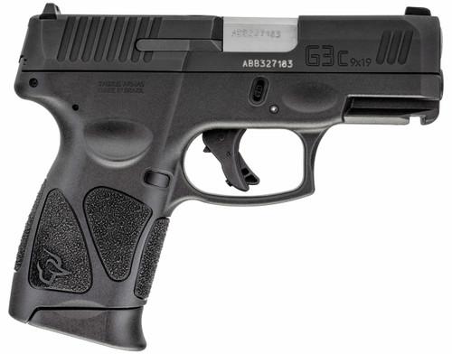 """Taurus G3C 9mm, 3.2"""" Barrel, AmeriGlo NS, Manual Safety, Black, 12rd"""