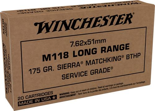 Winchester 7.62x51mm, 175gr, Sierra MatchKing, BTHP, 20rd Box