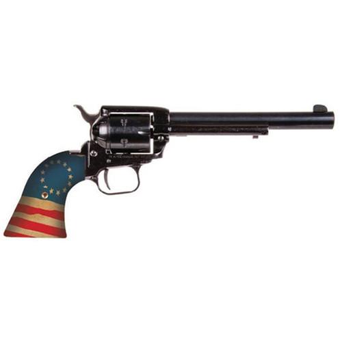 """Heritage Rough Rider Betsy Ross .22 LR, 6.5"""" Barrel, American Flag, Black, 6rd"""