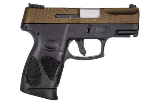 "Taurus G2C 9mm, 3.25"" Barrel, Manual Safety, Burnt Bronze/Black, 12rd"