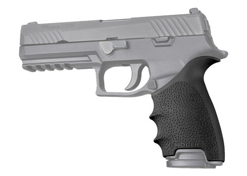 Hogue HandAll Beavertail Grip Sleeve, Fits Sig P320, Rubber, Black