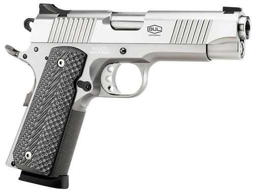 """Bul Armory 1911 Commander 9mm, 4.25"""" Barrel, Stainless, G10 Grips, 10rd"""