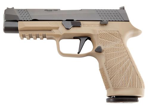 """Wilson Combat P320 9mm 4.7"""" Barrel, Fiber Optic Sights, Tan/Black, 17rd"""