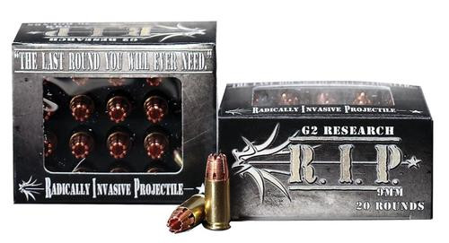 G2 Research RIP 9mm, 92gr, Hollow Point, 20rd Box