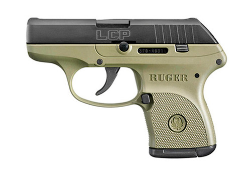 """Ruger LCP .380 ACP, 2.75"""" Barrel, OD Green, Blued, 6rd"""