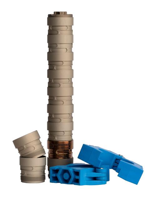 """Q Erector Rimfire Suppressor .22 LR, 1/2x28 TPI, 0.99"""" Diameter, 7.6"""" Length"""
