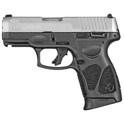 "Taurus G3c 9mm, 3.26"" Barrel, SS Slide/Black, Manual Safety, 12rd"