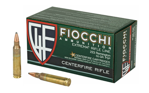 Fiocchi Field Dynamics .223 Rem, 55gr, Pointed Soft Point, 50rd Box