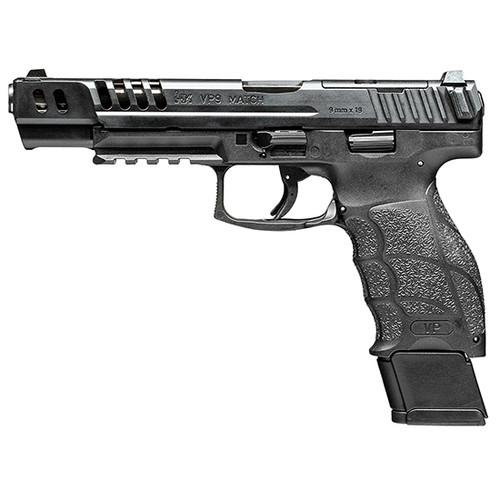 """HK VP9-B Match OR 9mm, 5.51"""" Barrel, 3-Dot Sights, Black, 4x 20rd Mag"""