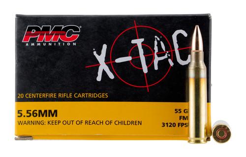 PMC X-Tac 5.56x45 NATO, 55gr, FMJBT, 20rd Box