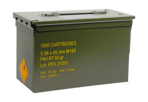 PPU Rangemaster 5.56x45 NATO, 55gr, FMJBT, 1000rd Case