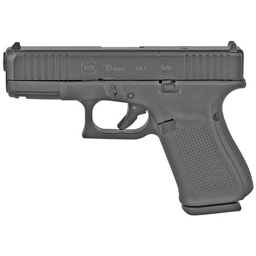 "Glock G19 Gen5 MOS USA 9mm 4.02"" Barrel, Fixed Sights, Black, 15rd"