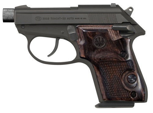 """Beretta 3032 Tomcat Covert .32 ACP, 2.9"""" Threaded Barrel, Walnut Grips, Bruniton Finish, 7rd"""