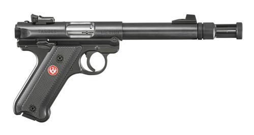 """Ruger MK IV Target .22 LR, 5.5"""" Threaded Bull Barrel, Flash Hider, Black, 10rd"""