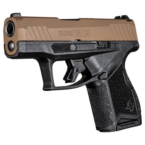 "Taurus GX4 9mm, 3.06"" Barrel, Fixed Front/Adj. Rear, Troy Coyote Tan, 11rd"