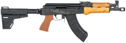 "Century Arms VSKA AK-47 7.62x39mm, 12.25"" Barrel, Blade Brace, Black/Brown, 30rd"