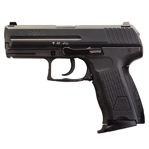 """HK P2000 V2 9mm, 3.66"""" Barrel, Decocker, Night Sights, Black, 10rd"""