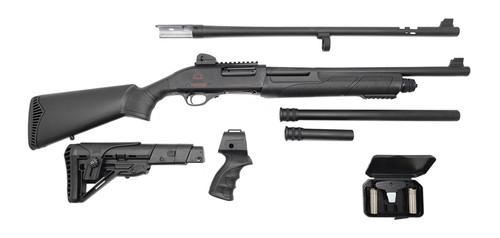 Black Aces Tactical Pro Series X 12 Ga, 2 Barrels/2 Stocks, Black, 4/6/10rd